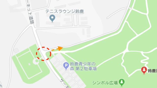 第3駐車への入り方地図