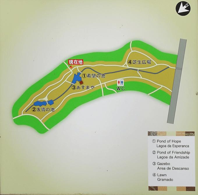 憩いの広場のマップ