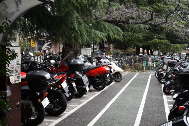 バイクの駐車場
