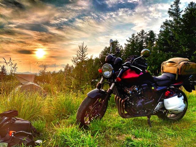 バイクで野宿