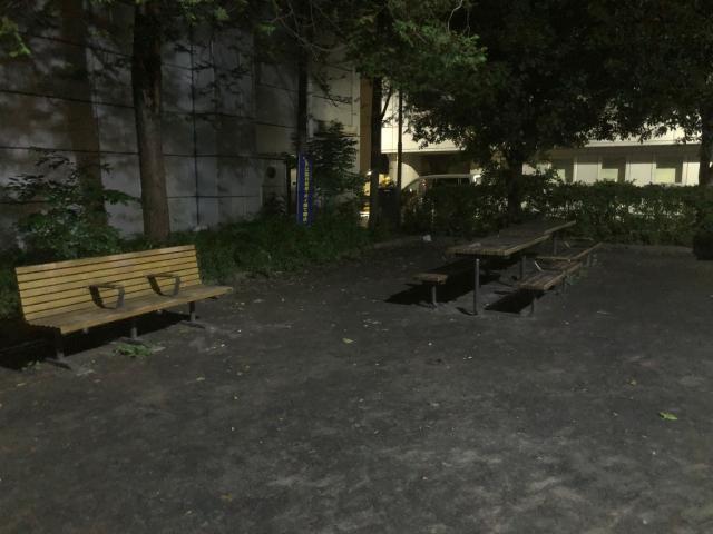 人目につかない公園